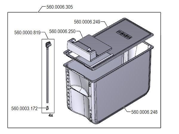 Deckel zu 12 Liter Milchbehälter SU12