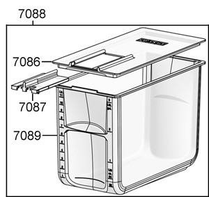 12 Liter Milchbehälter für Franke Kühleinheit KE300